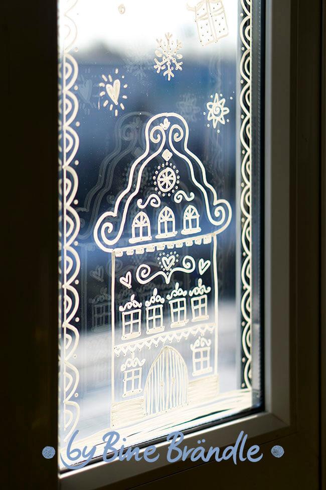 fensterbilder vorlagen weihnachten hauser  malbild
