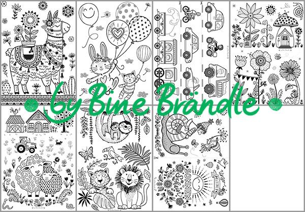 Vorlagenmappe Kinderzimmermotive - Bine Brändle